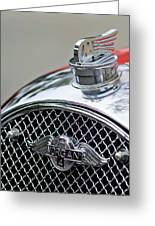 1953 Morgan Plus 4 Le Mans Tt Special Hood Ornament        Greeting Card