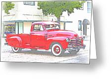 1953 Red Chevy Pickup Truck Greeting Card