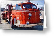 1954 American Lafrance Classic Fire Engine Truck Greeting Card by Kathy Clark