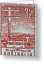 1954 Centenary Of Australian Telegraph Stamp Greeting Card