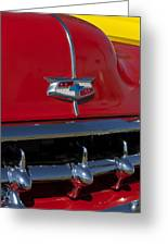 1954 Chevrolet Convertible Hood Emblem Greeting Card