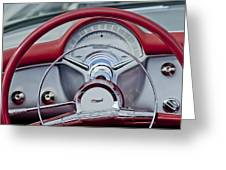 1954 Chevrolet Corvette Steering Wheel Greeting Card