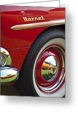 1954 Hudson Hornet Wheel And Emblem Greeting Card