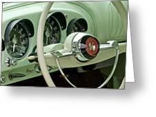 1954 Kaiser Darrin Steering Wheel Greeting Card