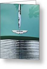 1955 Aston Martin Grille Emblem Greeting Card by Jill Reger
