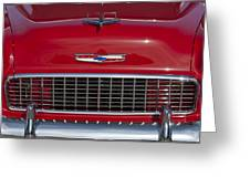 1955 Chevrolet 210 Hood Ornament And Grille Greeting Card