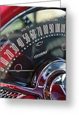 1955 Chevrolet 210 Speedometer  Greeting Card