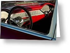1955 Chevrolet 210 Steering Wheel Greeting Card