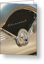 1955 Chevrolet Belair Clock Greeting Card