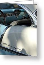 1955 Chevrolet Belair Dashboard 2 Greeting Card