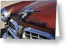 1955 Chrysler Windsor Deluxe Hood Ornament Greeting Card