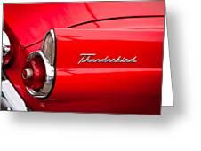 1955 Ford Thunderbird Greeting Card