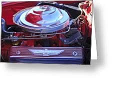 1955 Ford Thunderbird Engine Greeting Card