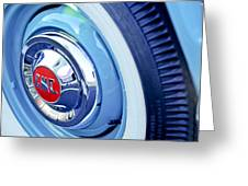 1955 Gmc Suburban Carrier Pickup Truck Wheel Emblem Greeting Card