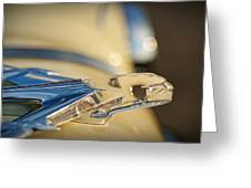 1955 Pontiac Star Chief Hood Ornament  Greeting Card