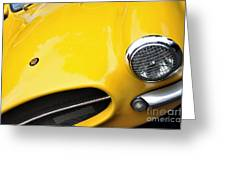 1956 Buckle Gt Coupe - Badge Grill Headlight Greeting Card