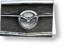 1956 Buick Century Grill Emblem Greeting Card