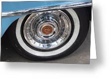 1956 Cadillac Front Wheel Greeting Card