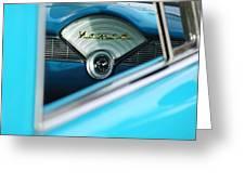 1956 Chevrolet Belair Nomad Dashboard Clock Greeting Card