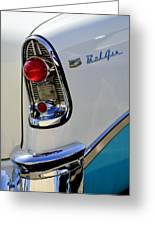 1956 Chevrolet Belair Taillight Emblem Greeting Card