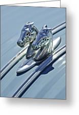 1956 Citroen 2cv Hood Ornament And Grille Emblem 3 Greeting Card