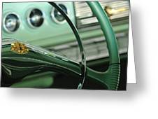 1956 Dodge Coronet Steering Wheel Greeting Card