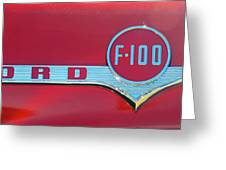1956 Ford F100 Greeting Card