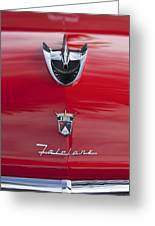 1956 Ford Fairlane Hood Ornament 7 Greeting Card