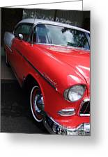 1956 Red And White Chevy Greeting Card