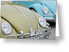 1956 Volkswagen Vw Bug Greeting Card