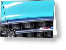 1957 Chevrolet Bel Air Classic Car Panoramic Fine Art Photo  Greeting Card