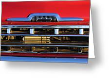 1957 Chevrolet Pickup Truck Grille Emblem Greeting Card by Jill Reger
