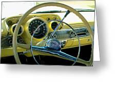 1957 Chevy Bel Air Dash Greeting Card