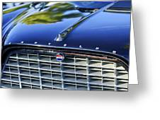 1957 Chrysler 300c Grille Emblem Greeting Card