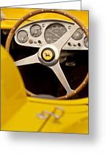 1957 Ferrari 500 Trc Scaglietti Spyder Steering Wheel Greeting Card