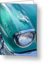 1957 Oldsmobile 98 Starfire Convertible Fender Spear Greeting Card