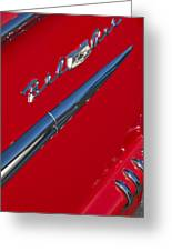 1958 Chevrolet Belair Emblem Greeting Card