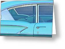 1958 Chevrolet Belair Greeting Card