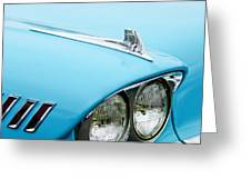 1958 Chevrolet Impala Fender Spear Greeting Card