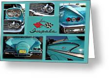 1958 Chevy Impala Greeting Card