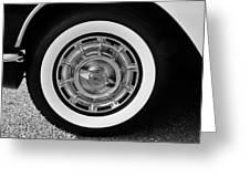 1958 Corvette White Walls Greeting Card