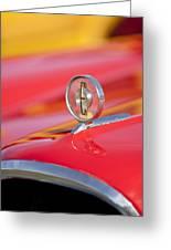 1958 Edsel Roundup Hood Ornament Greeting Card