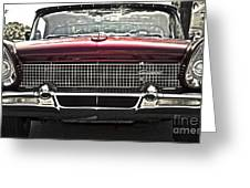 1958 Lincoln Continental Greeting Card