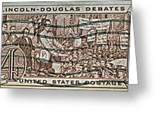 1958 Lincoln-douglas Debates Stamp Greeting Card