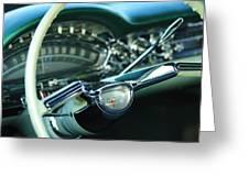1958 Oldsmobile 98 Steering Wheel Greeting Card
