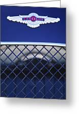 1959 Aston Martin Jaguar C-type Roadster Emblem Greeting Card