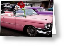 1959 Cadillac Convertible And The 1950 Mercury Greeting Card