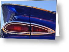 1959 Chevrolet El Camino Taillight Greeting Card