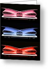 1959 Chevrolet Eyebrow Tail Lights Greeting Card