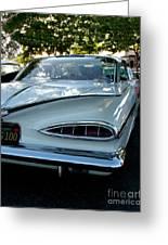 1959 Chevrolet Impala Taillight Greeting Card